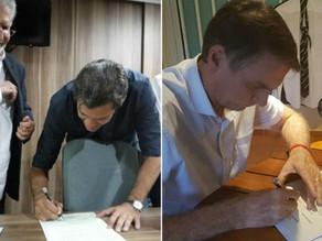 Bolsonaro e Haddad assinam termo de compromisso à Constituição
