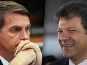 Ibope: Bolsonaro, 57%; Haddad, 43%. Diferença diminui para 14 pontos