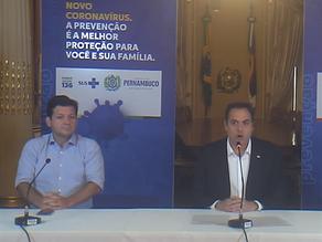 Governador determina fechamento de comércio e obras em Pernambuco