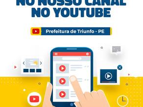 Prefeitura de Triunfo agora tem canal no Youtube!