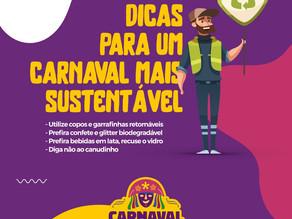 Dicas para um Carnaval mais sustentável