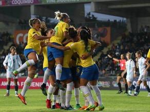 Brasil vence Argentina na Copa América Feminina