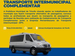 Prefeitura de Triunfo convoca  todos os profissionais que atuam no transporte de passageiros para re