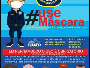 Máscara: em PE o uso é obrigatório!