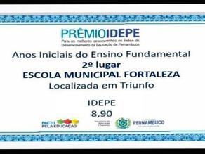 PRÊMIO IDEPE: Ensino Fundamental de Triunfo é o 2º melhor do estado de Pernambuco