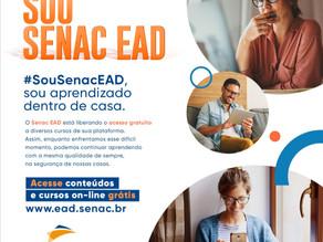 Senac EAD disponibiliza novas vagas em 20 cursos gratuitos a distância