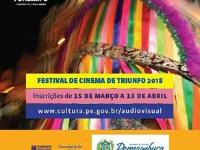 Inscrições abertas para o 11º Festival de Cinema de Triunfo