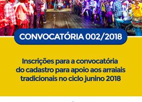 Prefeitura de Triunfo abre inscrições para apoio aos arraiais tradicionais no ciclo junino 2018