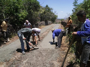 Prefeitura de Triunfo e comunidade do Sítio Fortaleza trabalham para a melhoria da estrada