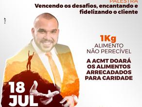 "Roberto Montanha palestrará ""Vencendo os desafios, encantando e fidelizando o cliente"" nes"
