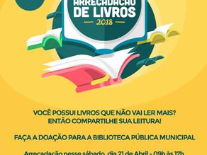 """Prefeitura de Triunfo lança campanha """"Arrecadação de Livros"""" para a Biblioteca Pública"""