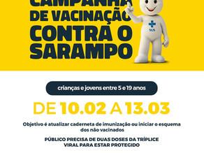 Campanha de vacinação contra o sarampo agora foca em crianças e jovens