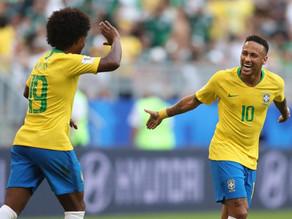Brasil segura o ataque mexicano e vence por 2 a 0
