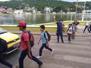 GCM e AGT realiza ação educativa de trânsito em Triunfo