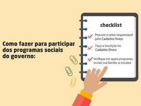 Descubra o que fazer para participar dos programas sociais do governo
