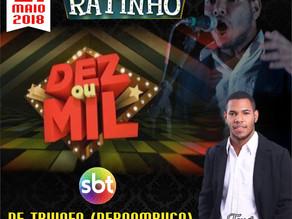 Jovem cantor triunfense, Igor Alves, será umas das atrações do Programa do Ratinho (SBT)