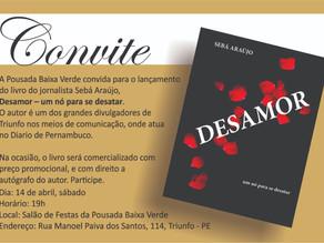 Jornalista Sebá Araújo lança livro em Triunfo neste sábado (14)