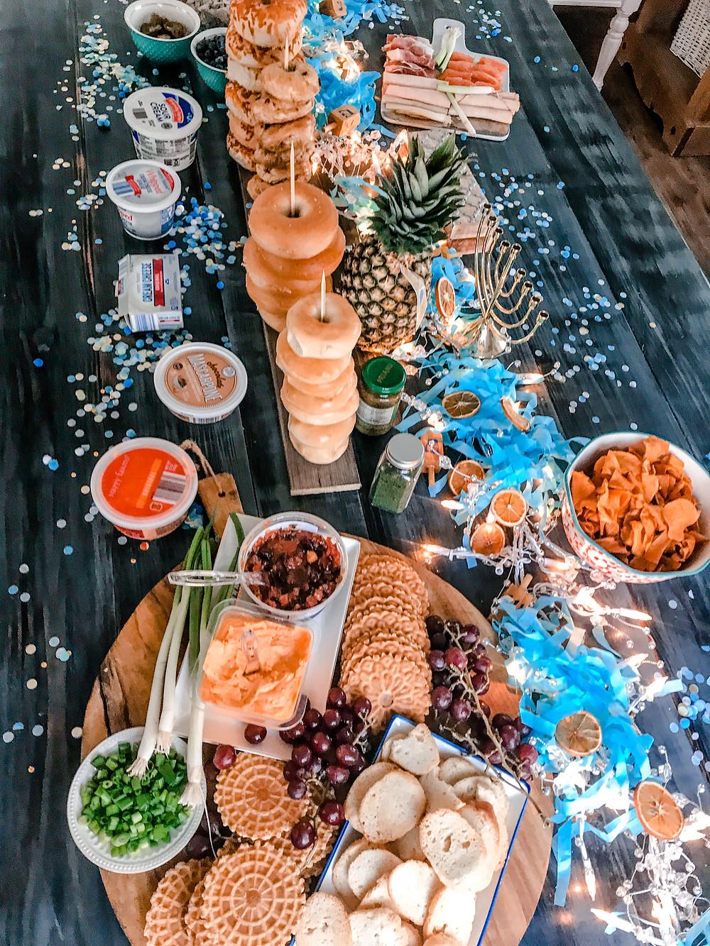 hanukkah bagel bar