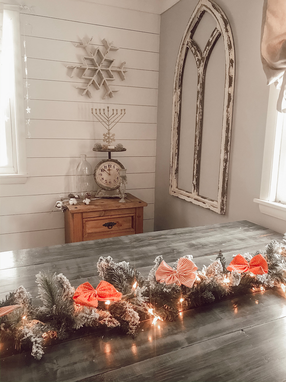 DIY Garland with bows