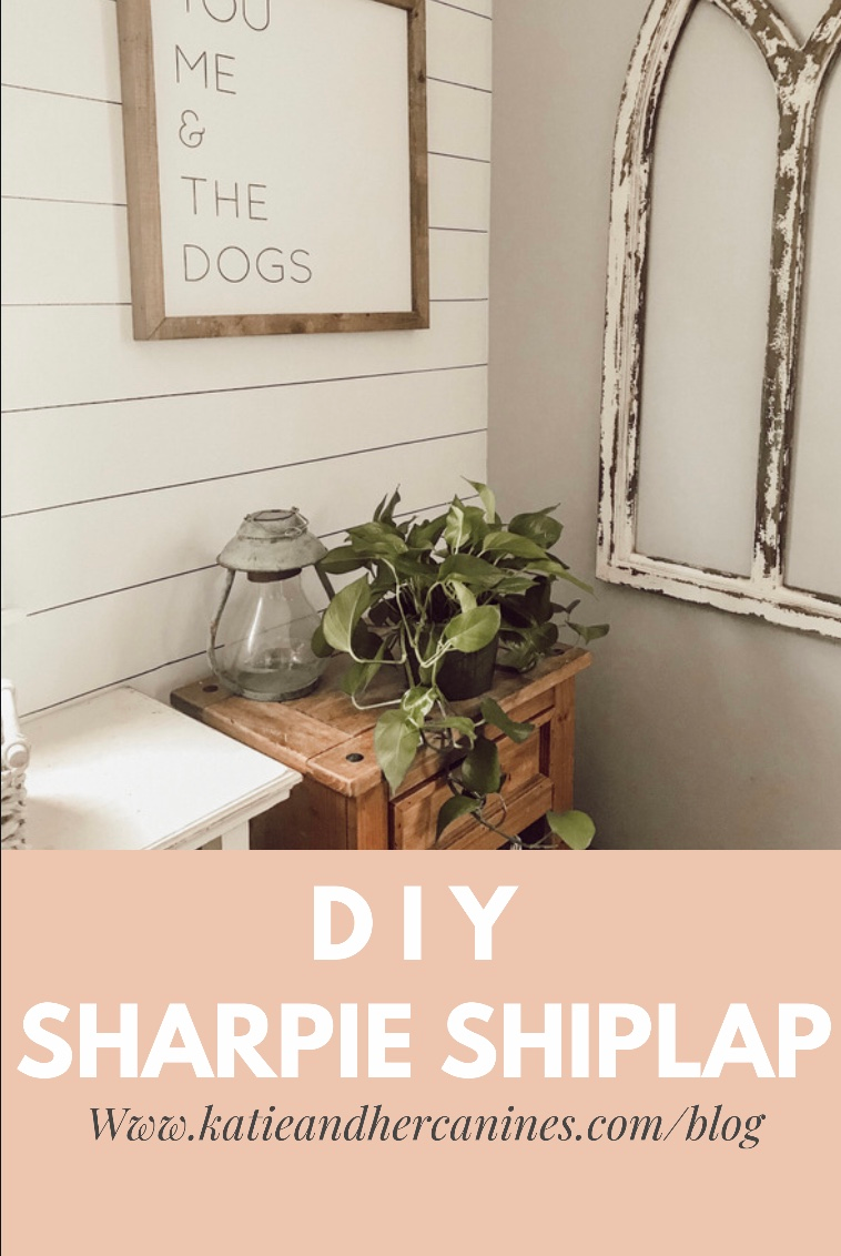 DIY Sharpie shiplap