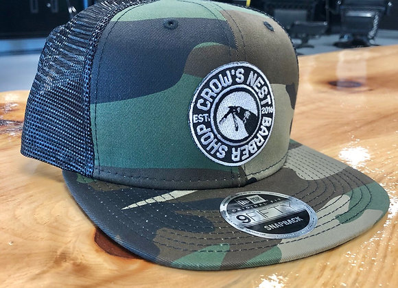 CROWS NEST NEW ERA- Camo Snap Back hat