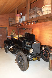 1925 Model T Ford Pick Up Truck in the Farm Shop and Garage.