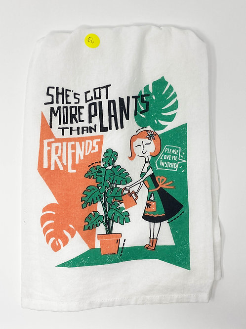 Plants Tea Towel