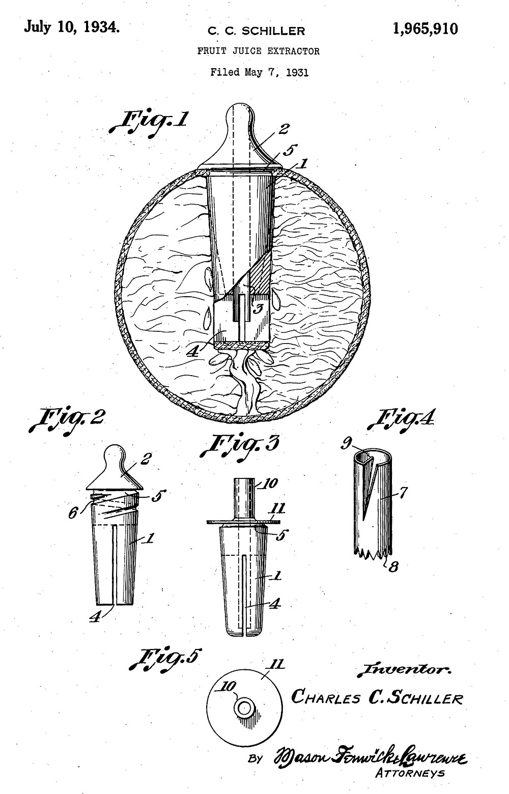 Patent drawing for the Citra Sipper