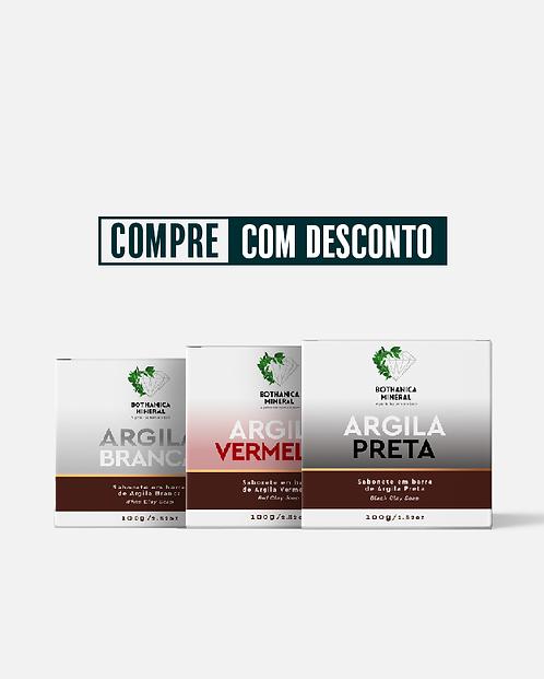 KIT SABONETES DE ARGILA EM BARRA