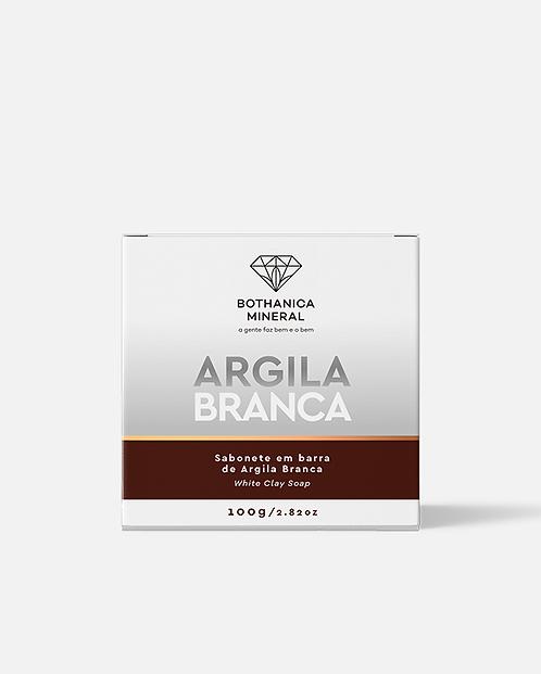 SABONETE EM BARRA DE ARGILA BRANCA