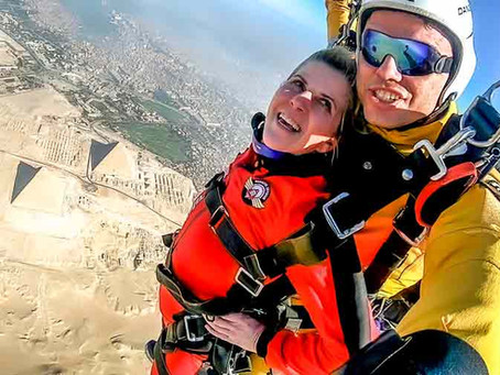 Tandem Parachute Jump above the pyramids