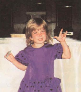 Foto de uma criança.