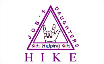 Imagem do símbolo da HIKE, composta por um triângulo com escritas ao ser redor.