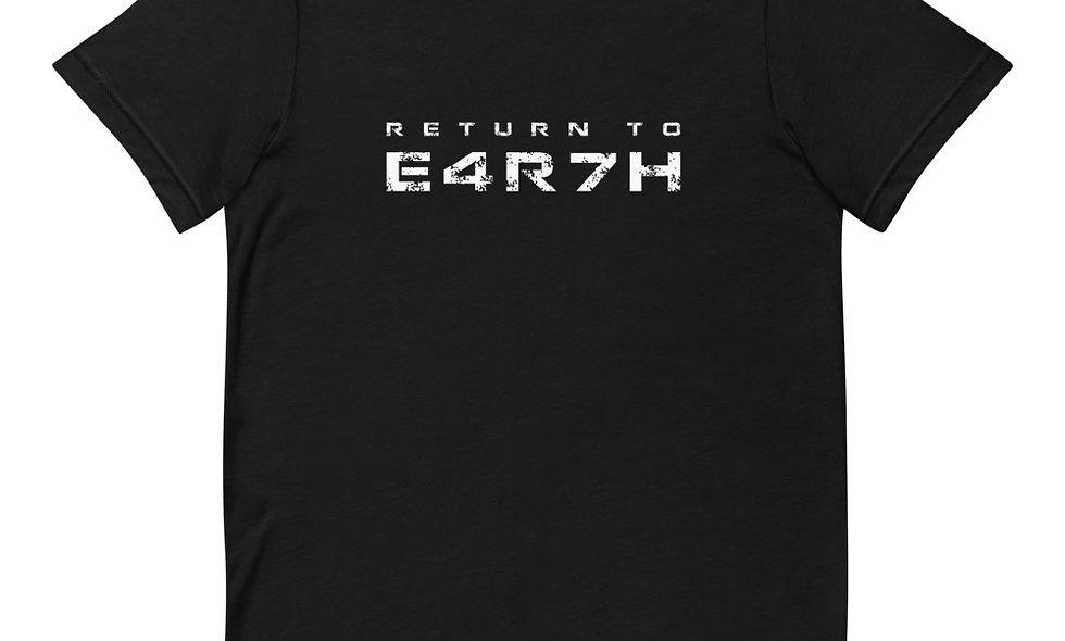 Return to E4R7H T-Shirt