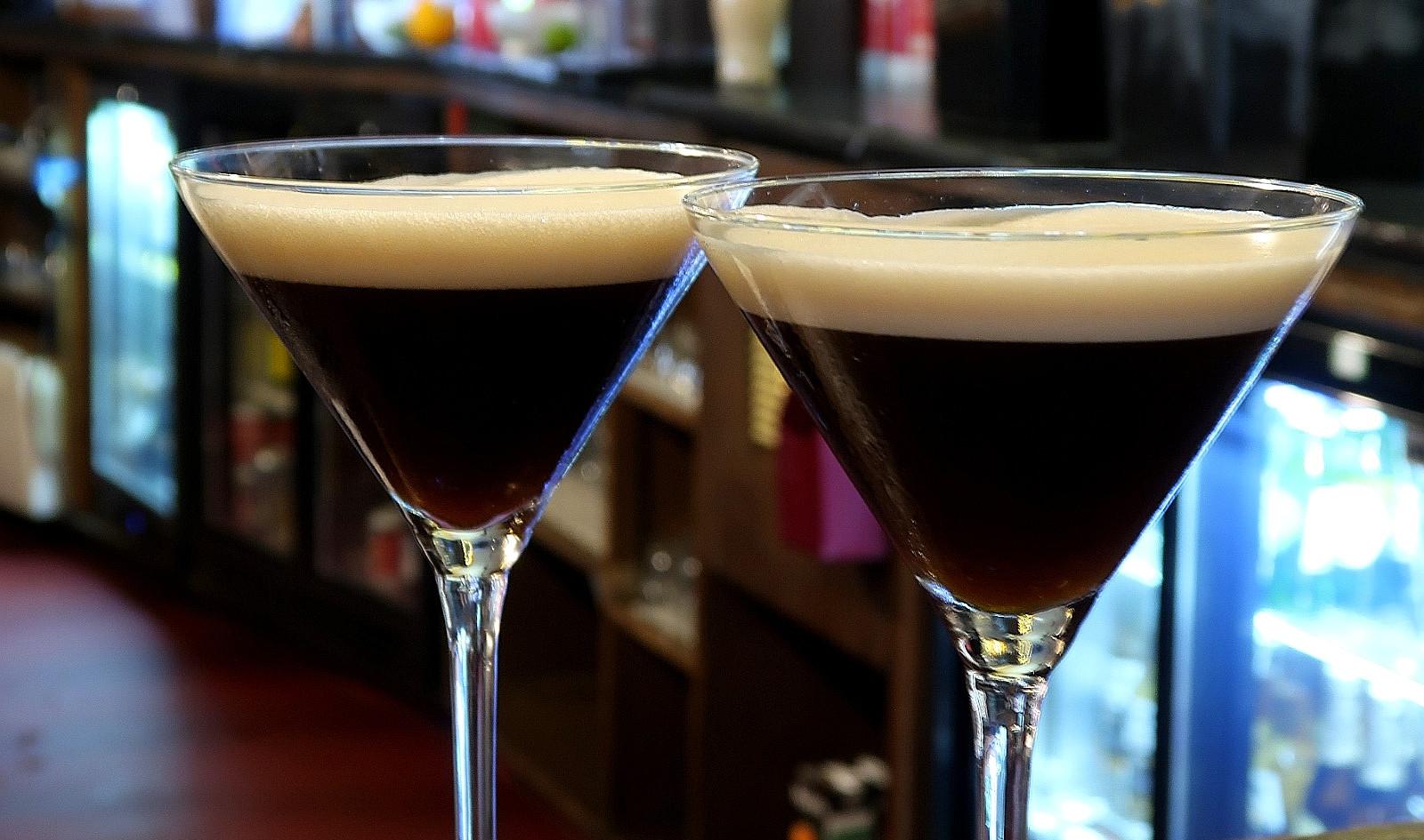 Salted Caramel Espresso Martinis