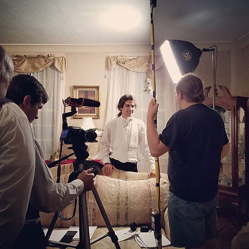 Behind the scenes on _The Dinner Party_!