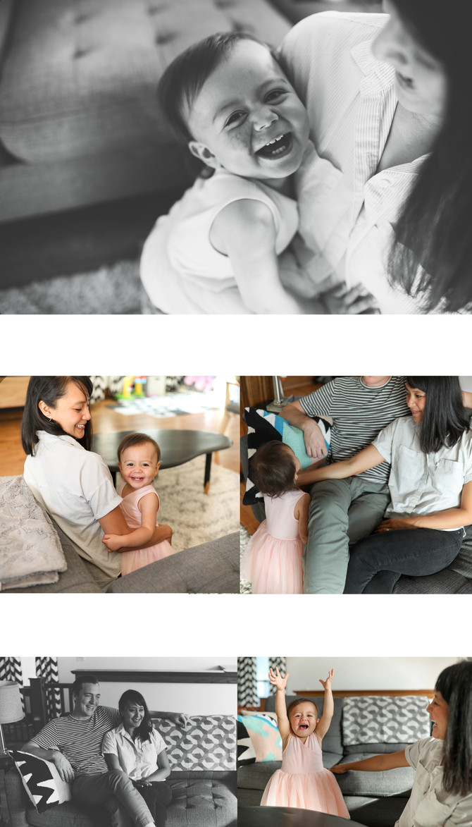 Colleen, Norm & Violet | at home lifestyle session | Buffalo, NY