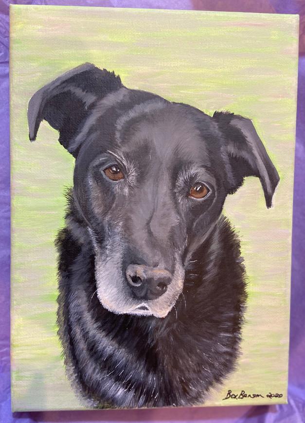 A4 painting - acrylic on canvas