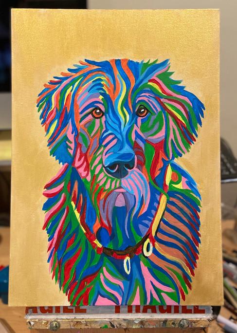 A3 canvas acrylic painting