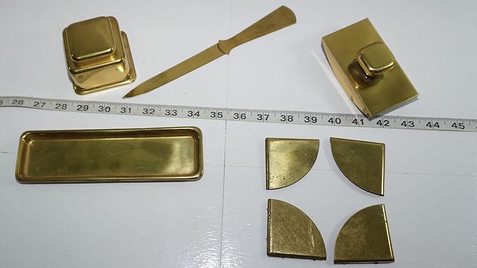 Brass Office Desk Set