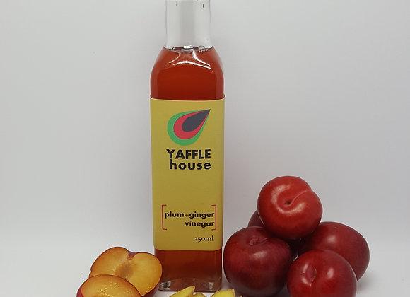 Plum & Ginger Fruit Vinegar, made from raw apple cider vinegar (ACV)