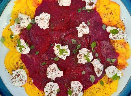 Carpaccio of Beetroot with Labneh