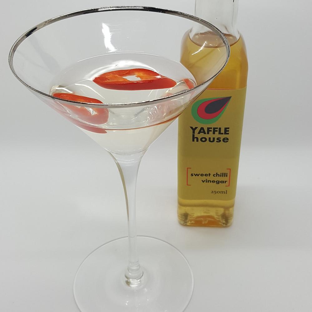 Yaffle House Sweet Chilli Vinegar in a chilli martini