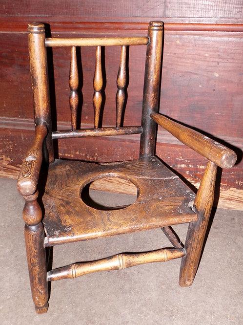 1860s Early Americana Handmade Childs Chair