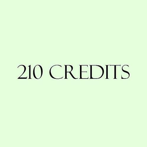 210 Credits