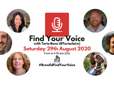 #BrewEdFindYourVoice – post  1!