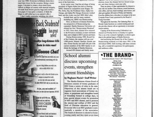 Throwback Thursday: Homecoming Edition                By: Emily Williamson