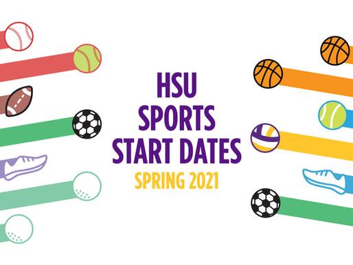 HSU Sports Start Dates By: Orel Rhodes