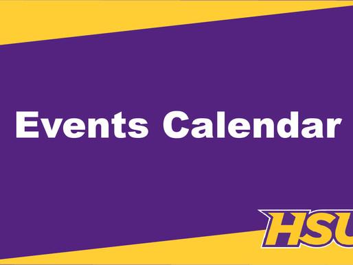 Events Calendar March 14 - April 4