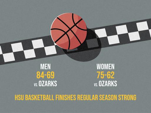 Men and Women's Basketball Teams Finish Regular Season Strong